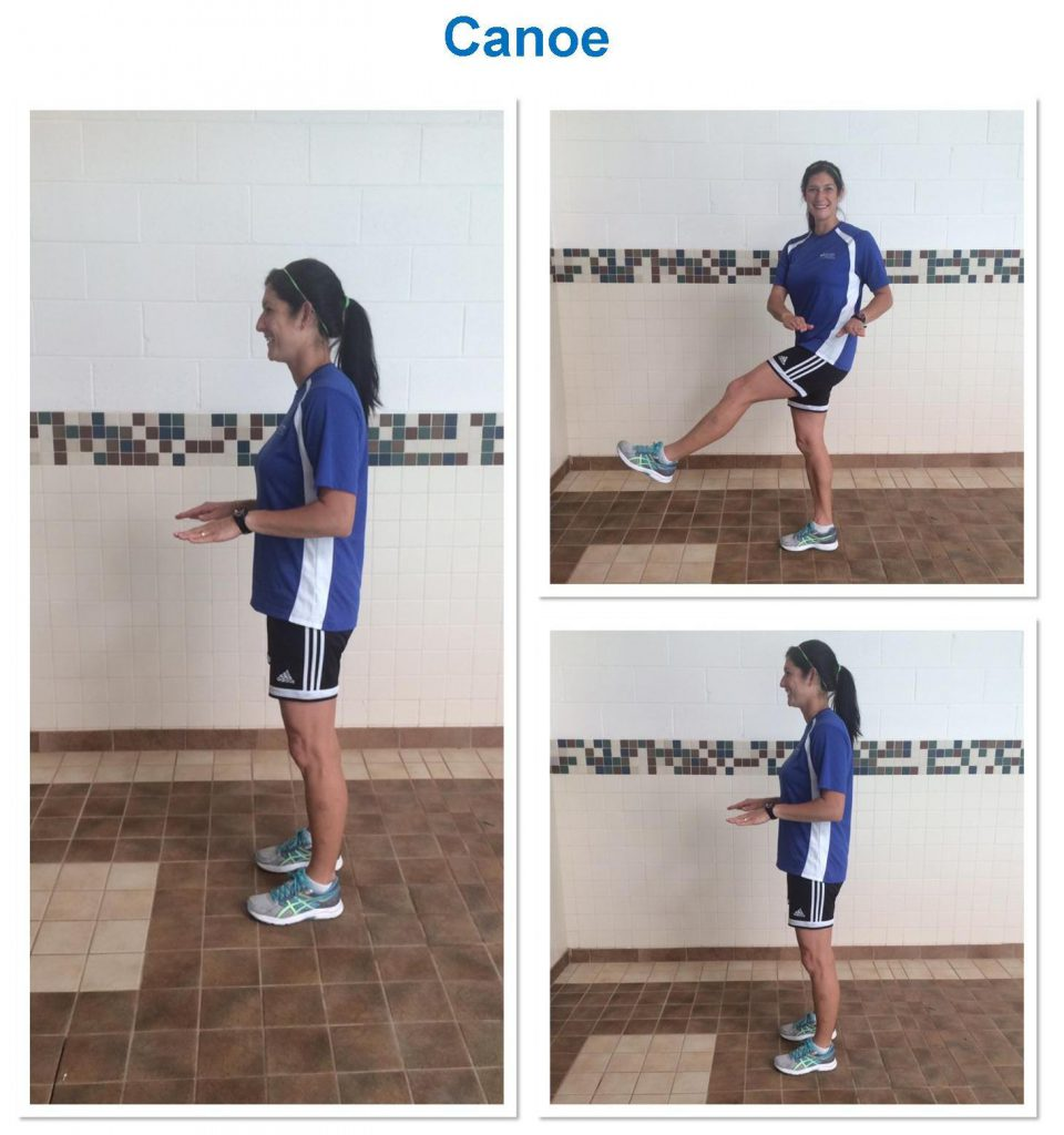 collage of woman demonstrating exercise