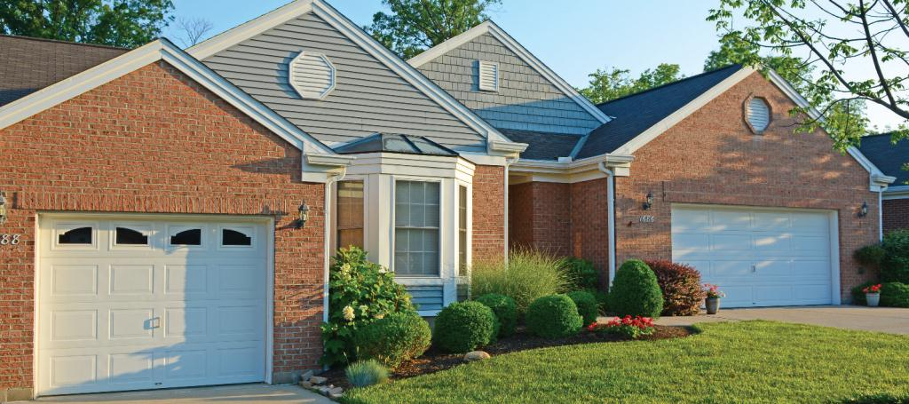 exterior of brick single story patio home