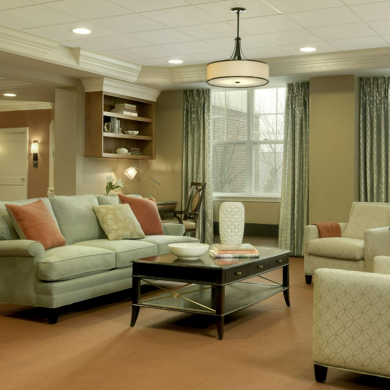 living area in a nursing faciltiy