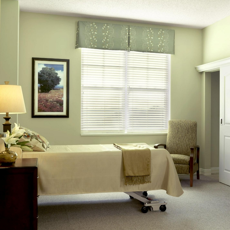 bedroom in a nursing care room