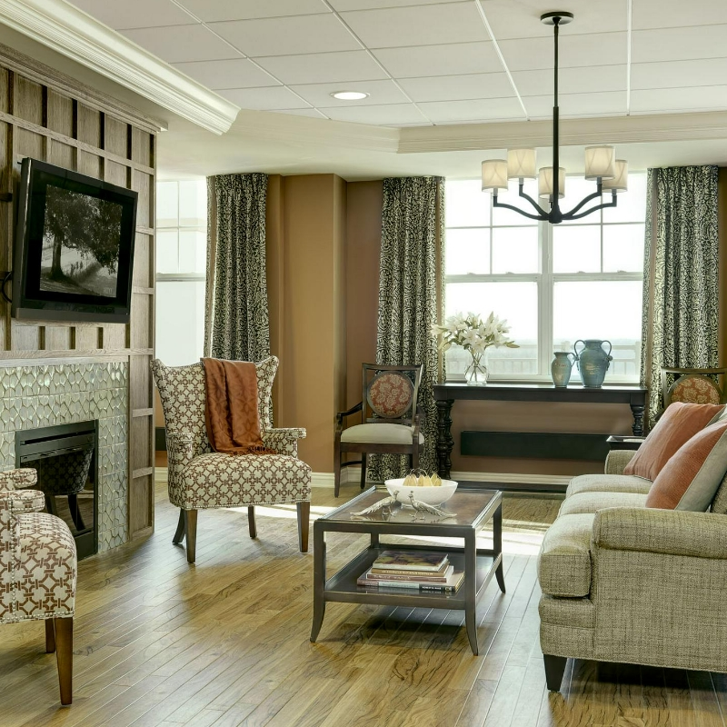 living room in nursing facilty