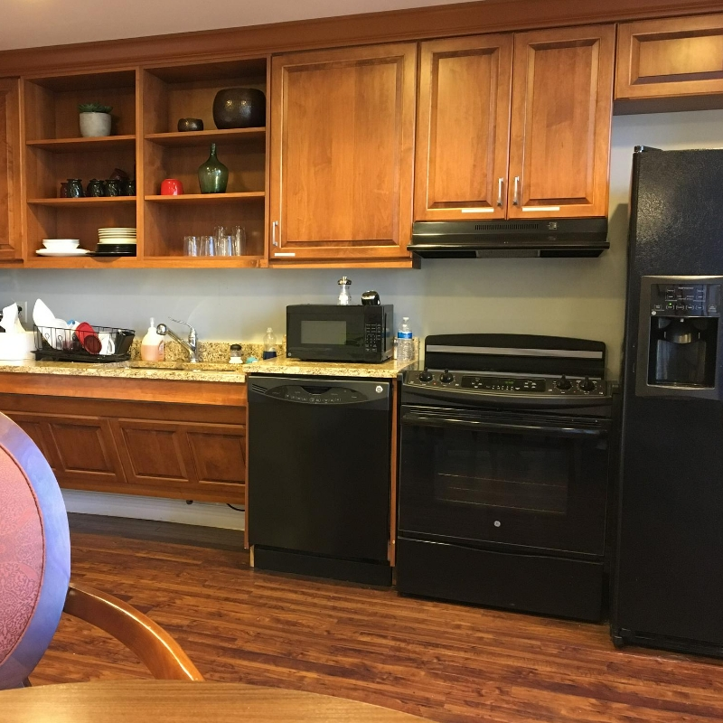 full kitchen in a therapy gym