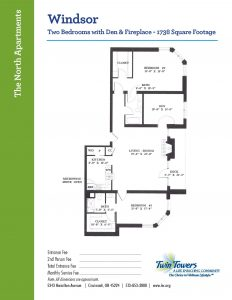 floor plan of windsor apartment