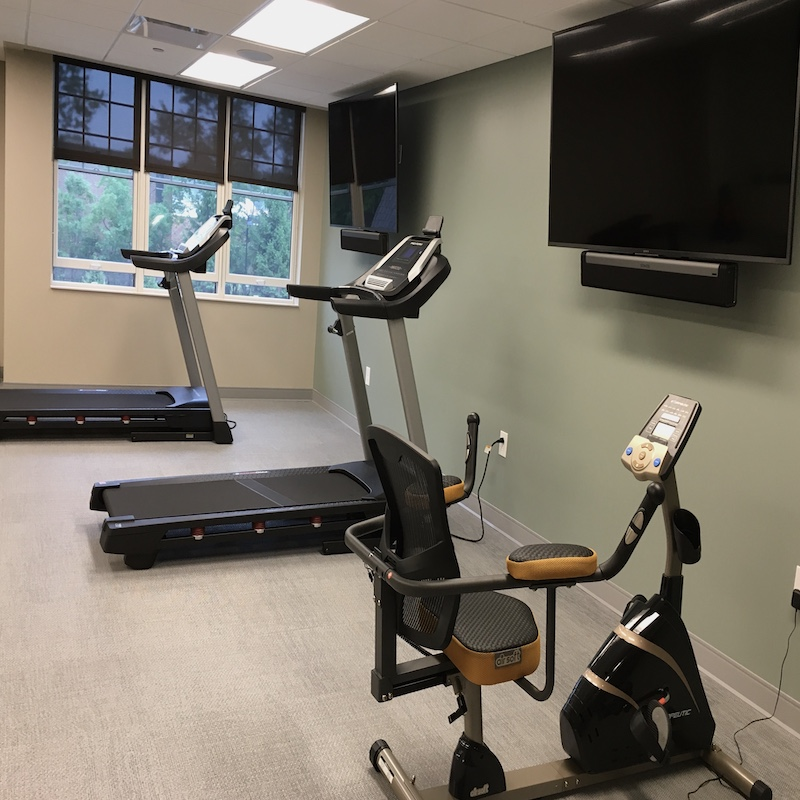 Concord Reserve fitness room equipment